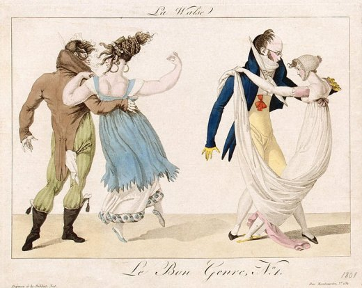 French caricature of the waltz